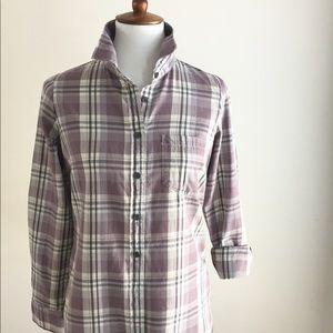JCrew button down plaid shirt | Purple | XS
